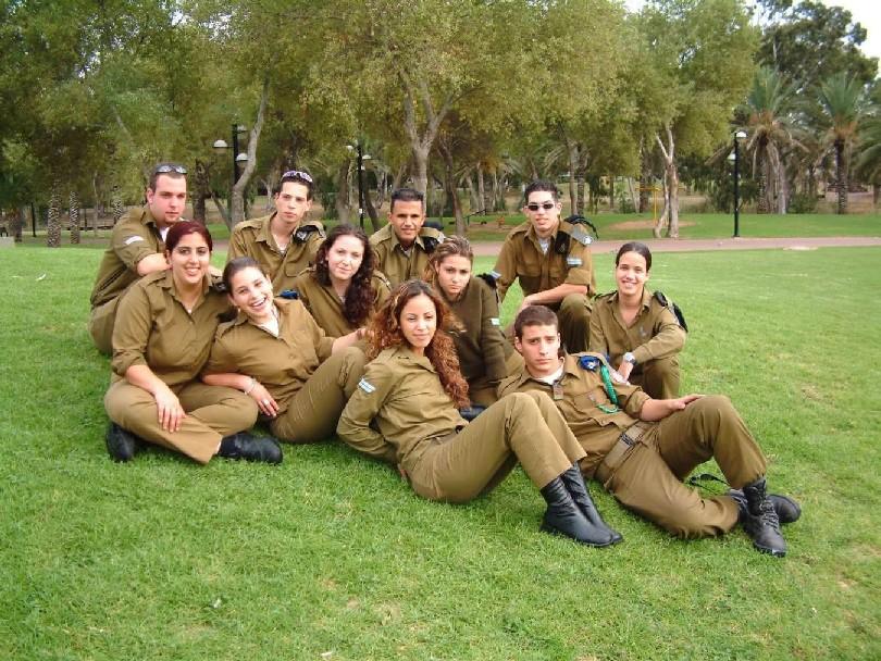 Israelische Soldatinnen Zeigen Ihre ärsche